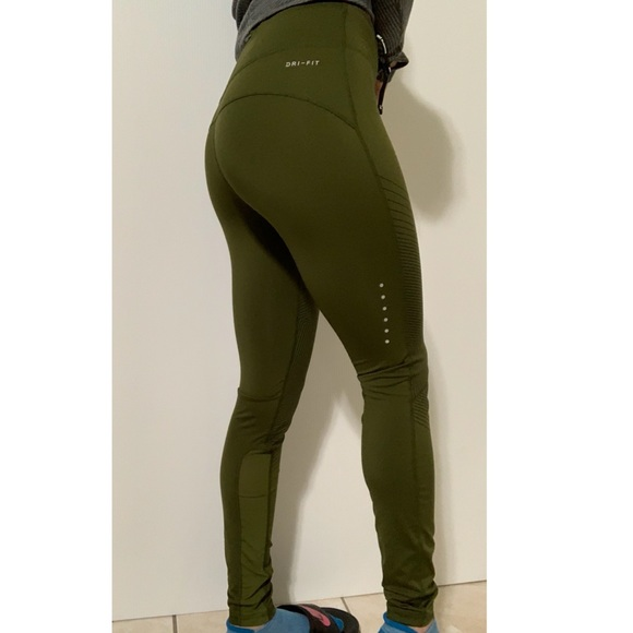 a9c99e392ed19 Nike Olive Green Drawstring Workout Leggings XS. M_5c429c62e944ba5ba9849a96